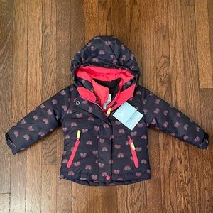2 Coats in 1! Cat & Jack sz 2T Winter Rainbow Coat
